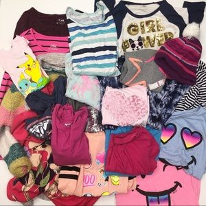 20 Piece Girls Lot - Tops (10/12/M)